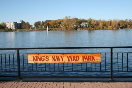 king's navy yard park overlooking boblo island